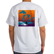 Surfing The Great Lakes Ash Grey T-Shirt