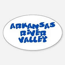 Arkansas River Valley 2 Oval Decal