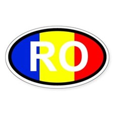 RO - Romanian Flag Decal