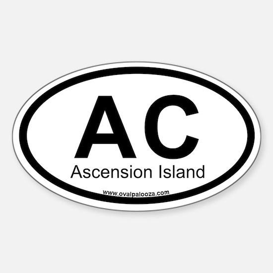 Ascension Island Sticker (Oval)