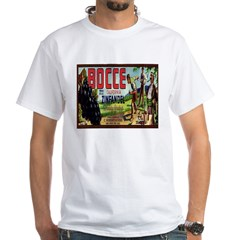 White Bocce Grape Label T-Shirt