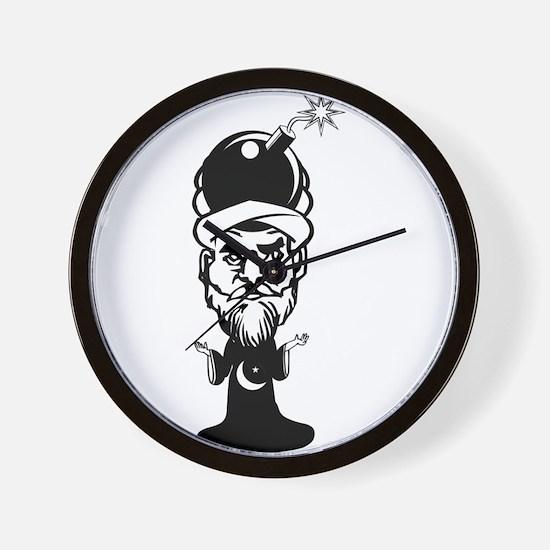 Muhammad Cartoon Wall Clock