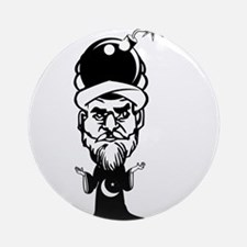 Muhammad Cartoon Ornament (Round)
