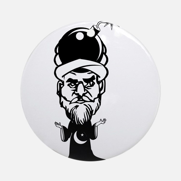 Muhammad Cartoon Ornament (Round)