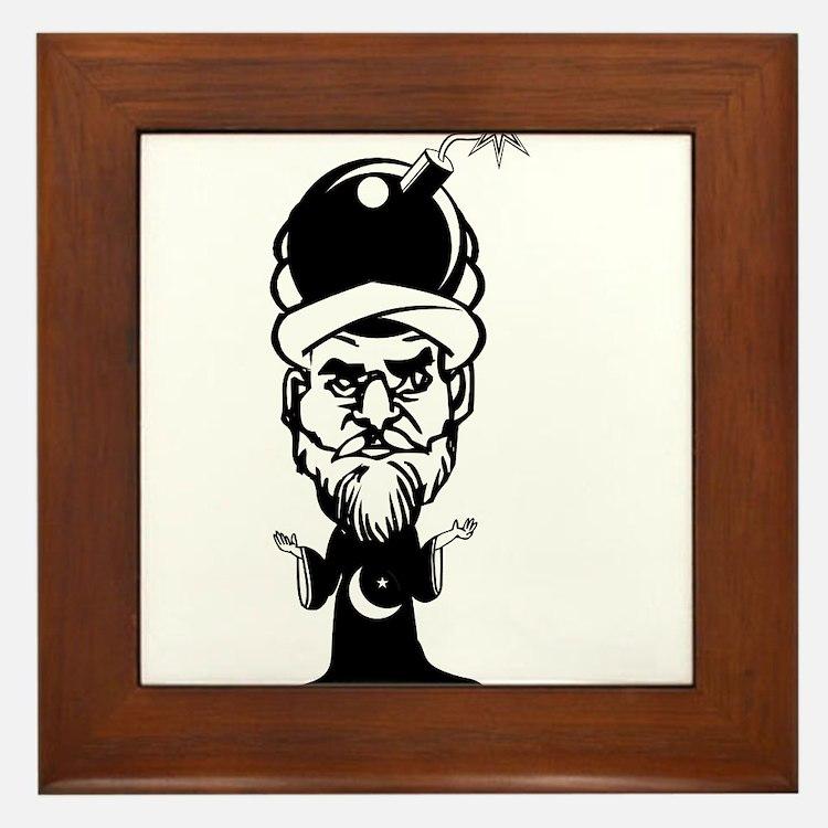 Muhammad Cartoon Framed Tile