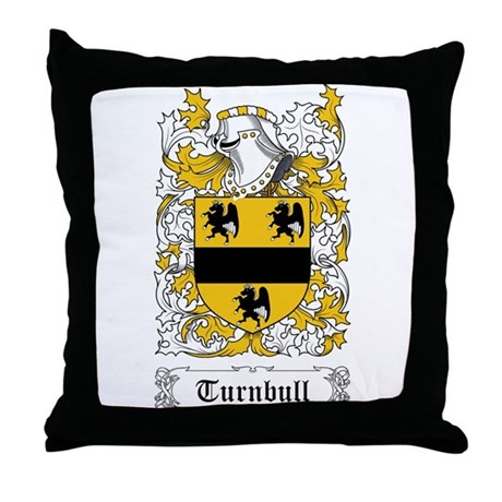 Turnbull I [English] Throw Pillow