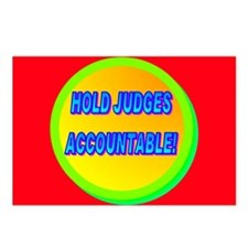 HOLD JUDGES ACCOUNTABLE! Postcards (Package of 8)
