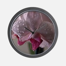 Dewy Orchid Wall Clock