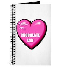 I Love My Chocolate Lab Journal