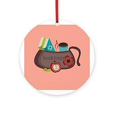 Cute Book Lover Handbag Christmas Ornament