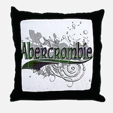 Abercrombie Tartan Grunge Throw Pillow