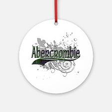 Abercrombie Tartan Grunge Ornament (Round)