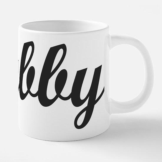 HUBBY. HUSBAND. 20 oz Ceramic Mega Mug