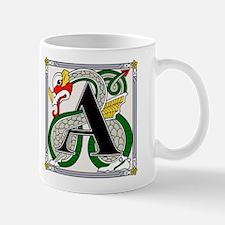 Fantasy dragon art letter A Mug