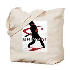Cute Youth baseball Tote Bag