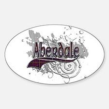 Aberdale Tartan Grunge Sticker (Oval)