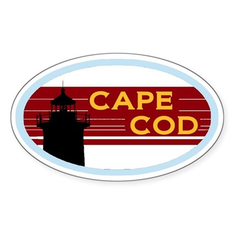 Cape Cod Bumper Sticker Sticker (Oval)