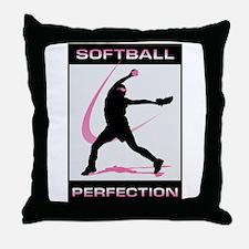 Cute Girls softball Throw Pillow