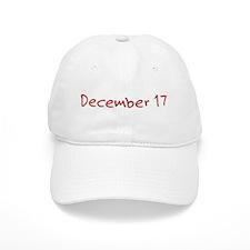 """December 17"" printed on a Baseball Cap"