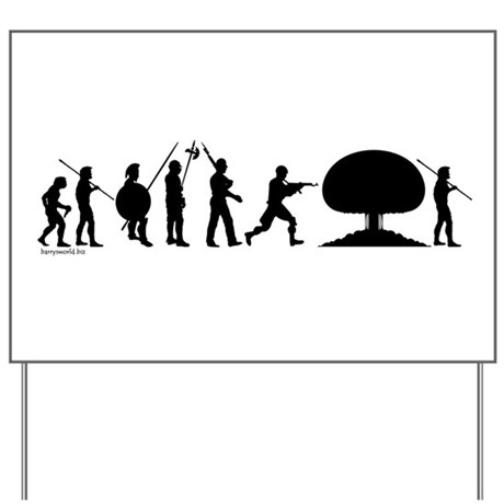 War Evolution Yard Sign