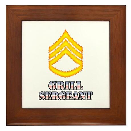 Grill Sergeant Framed Tile