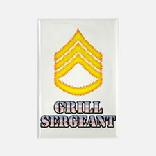 Grill Sergeant Rectangle Magnet