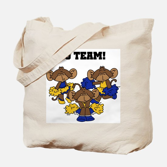 Go Team Blue and Gold Tote Bag