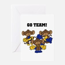 Go Team Blue and Gold Greeting Card