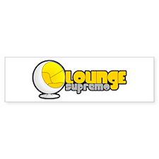 Lounge Supremo Wide Bumper Sticker
