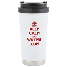 Cute Keep calm and wdtprs.com Travel Mug