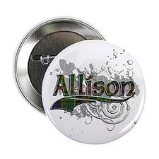 """Allison Tartan Grunge 2.25"""" Button"""
