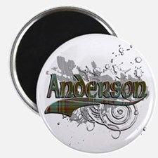 Anderson Tartan Grunge Magnet
