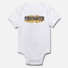 Firefighter Double Flames Infant Bodysuit