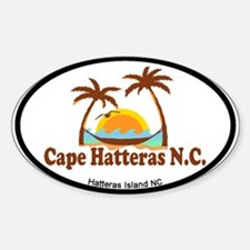 Cape Hatteras NC - Palm Trees Design Decal