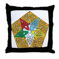 Eastern Star Celtic Knot Throw Pillow