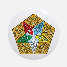 Eastern Star Celtic Knot Ornament (Round)