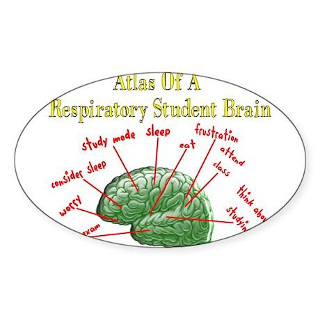 Respiratory Therapy 6 Sticker (Oval)
