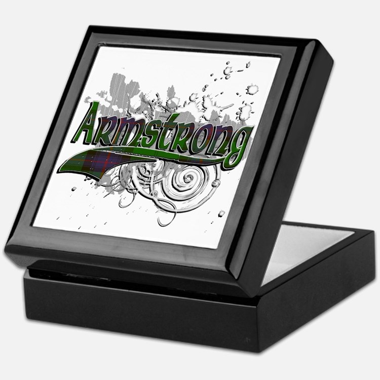 Armstrong Tartan Grunge Keepsake Box