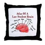 Law Student Throw Pillow