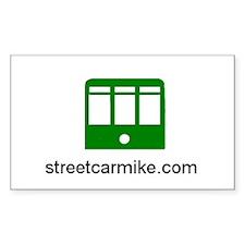 streetcarmike.com Rectangle Decal