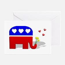 GOP Elephant Love Greeting Cards (Pk of 10)