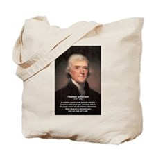Safety Freedom President Jefferson Tote Bag