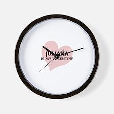 Juliana Is My Valentine Wall Clock