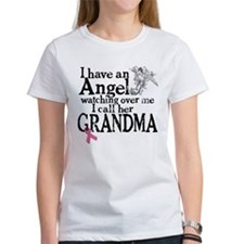 Breast Cancer Grandma Angel Tee