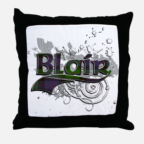 Blair Tartan Grunge Throw Pillow