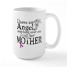Breast Cancer Mother Angel Mug