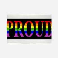 Black Proud Fridge Magnet