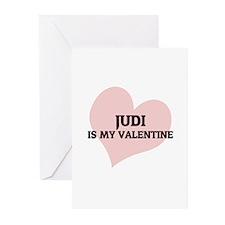 Judi Is My Valentine Greeting Cards (Pk of 10)
