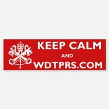 KEEP CALM WDTPRS.COM Bumper Bumper Sticker