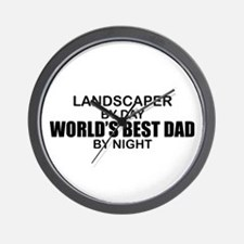 World's Best Dad - Landscaper Wall Clock